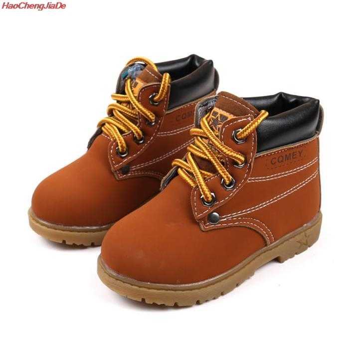 HaoChengJiaDe เด็ก Snow BOOTS รองเท้าสำหรับชายหญิงรองเท้าแฟชั่นนุ่มด้านล่างสาวรองเท้า 21-30 ฤดูใบไม้ร่วงฤดูหนาวรองเท้าเด็ก