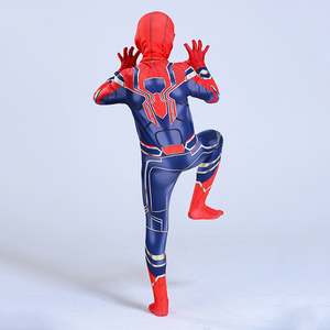 Image 3 - Man Latex Spider Costume for Kids Halloween Superhero Party Cosplay Carnival Spider Boys Fancy Dress