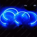 4X127.5mm Coche Azul Halo CCFL Anillos Angel Eyes Faros para BMW E32.E34. E30.E39OEM Auto Luz Kits # FD-4164