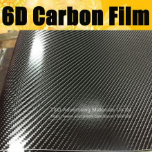 Film de protection pour voiture en Fiber de carbone brillant 6D 10/20/30/40/50/60x152cm avec film d'emballage en fibre de carbone brillant à libération d'air(China)