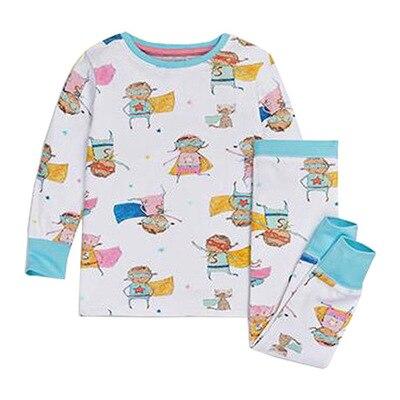 Little Maven Kids Pajamas Sets Long Sleeve Clothing Set for Baby 2T-7T laura scott womens blue check pajamas lightweight short sleeve pajama set