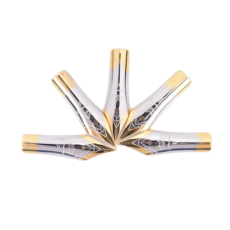 1pc Silver Gold 165 X500 Standard Fountain Pen Nib Stainless Steel Straight Tip For Jinhao