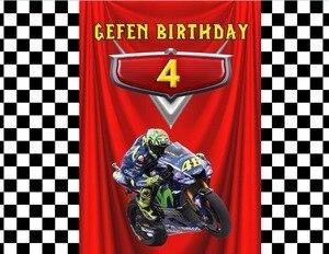 Image 4 - Sensfun Karikatür Motosiklet Doğum Günü Partisi Özel Fotoğraf Stüdyosu Arka Plan Afiş Vinil 7x5ft