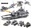 743pcs 8 difference in 1  Military warships building blocks assembled toy boy toys puzzle compatible Legoe toys children