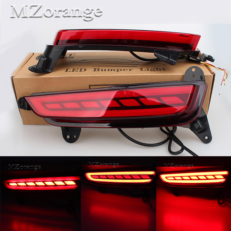 Multi-function LED Red Rear Bumper Light For Hyundai Creta IX25 2014 2015 2016 Brake Light Rear Fog Lamp Turn Signal Light