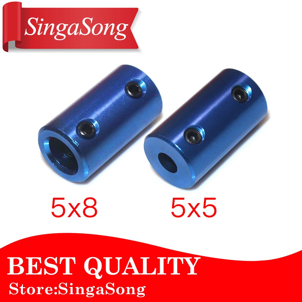 Aluminum Alloy Coupling Bore 5mm 8mm 3D Printers Parts Blue Flexible Shaft Coupler Screw Part For Stepper Motor Accessories