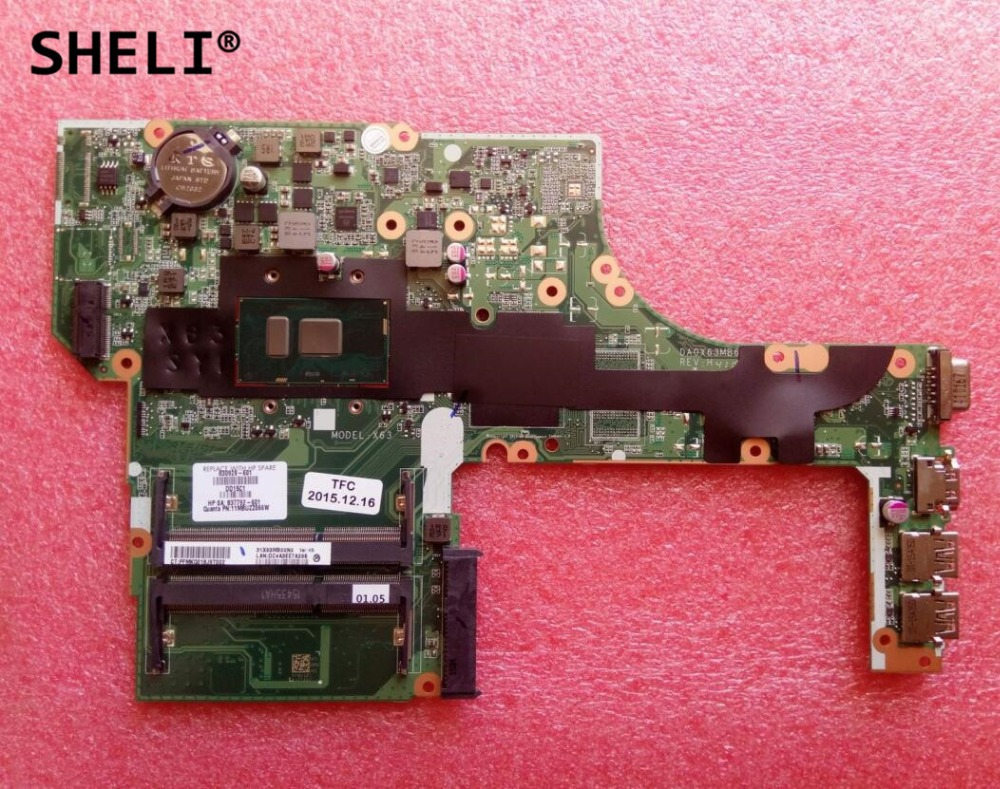SHELI For HP 450 G3 Motherboard with 4405U cpu 830929 601 830929 501 830929 001