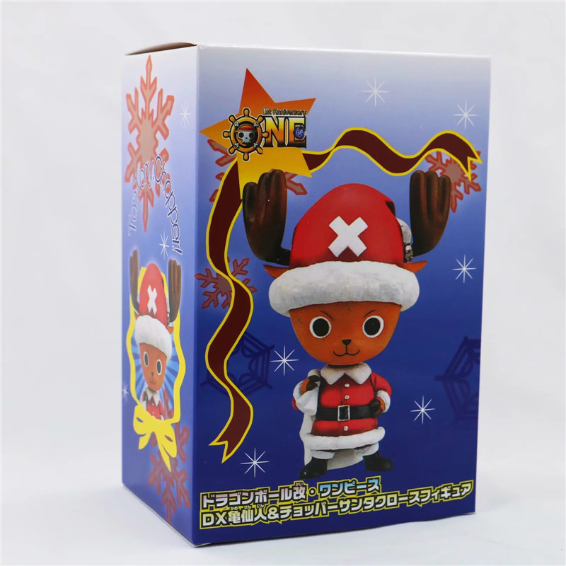 New Christmas One Piece Chopper Action Figure Toys Kawaii Anime Xmas Sled Chopper Figuras Dolls Brinquedos Gift 10cm  (17)