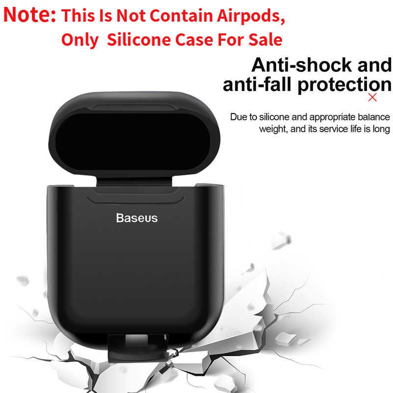 Dla przypadku Airpods Baseus bezprzewodowego ładowania Qi silikonowe etui na Airpod osłona ochronna dla z przewodowego ładowania na poduszki powietrzne Coques