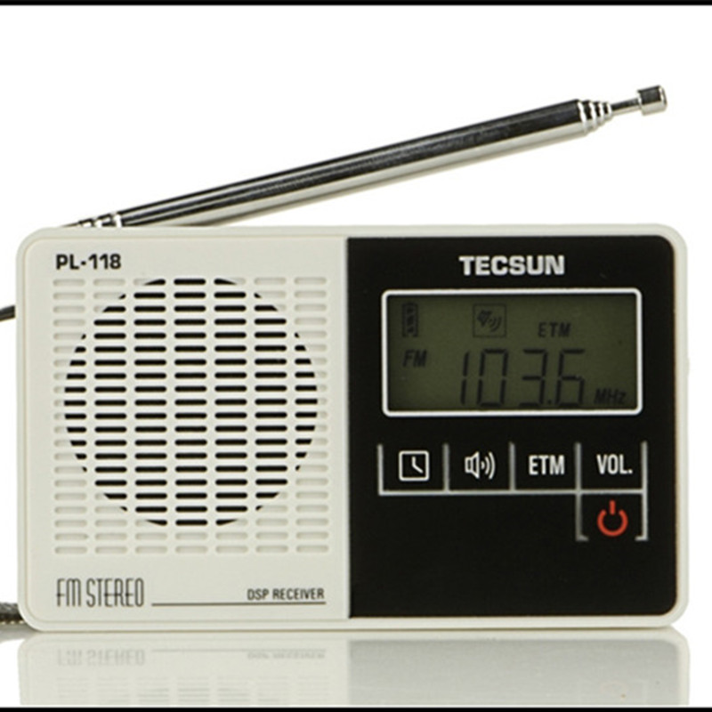 tecsun pl 118 pl118 radio dsp fm stereo digital radio tecsun etm clock alarm professional. Black Bedroom Furniture Sets. Home Design Ideas