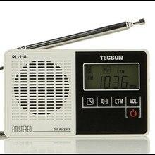 Tecsun PL-118 radio pl118 ETM DSP Radio tecsun FM Estéreo digital Reloj de Alarma Profesional portátil radio Receptor freeshipping