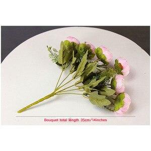 Image 4 - Yo Cho 6 Heads/Boeket Pioenen Kunstbloemen Zijde Pioenen Boeket Wit Roze Bruiloft Woondecoratie Nep Pioen Roos bloem