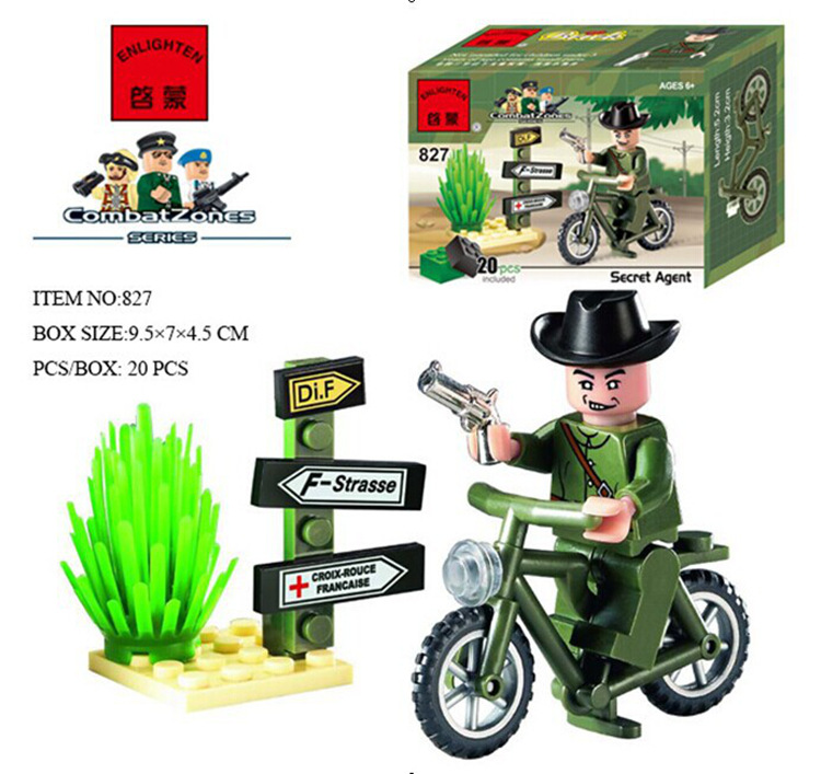 ENLIGHTEN City Series Military Soldiers Building Blocks Sets Bricks Model Kids Toys Compatible Lepine education block gift enlighten 1712 city swat series military fighter policeman figures building blocks bricks compatible with lepin kids toys