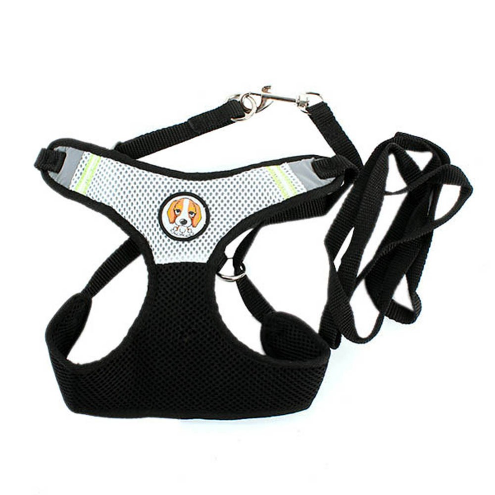 S M L Comfort Soft Dog Leash Lead With Mesh Harness Girth Vest Small Cat Pet Dog Hot