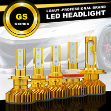 LOAUT GS H1 H3 H4 H7 H8 H9 H11 H13 9004 9005 9006 9007 880 881 H27 Car LED Headlight Bulbs Hi-Lo Beam 100-160W 10000LM 6000K(China)