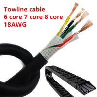 18AWG 6/7/8 core Towline cable 5m PVC flexible wire TRVV resistance to bending corrosion resistant copper wire