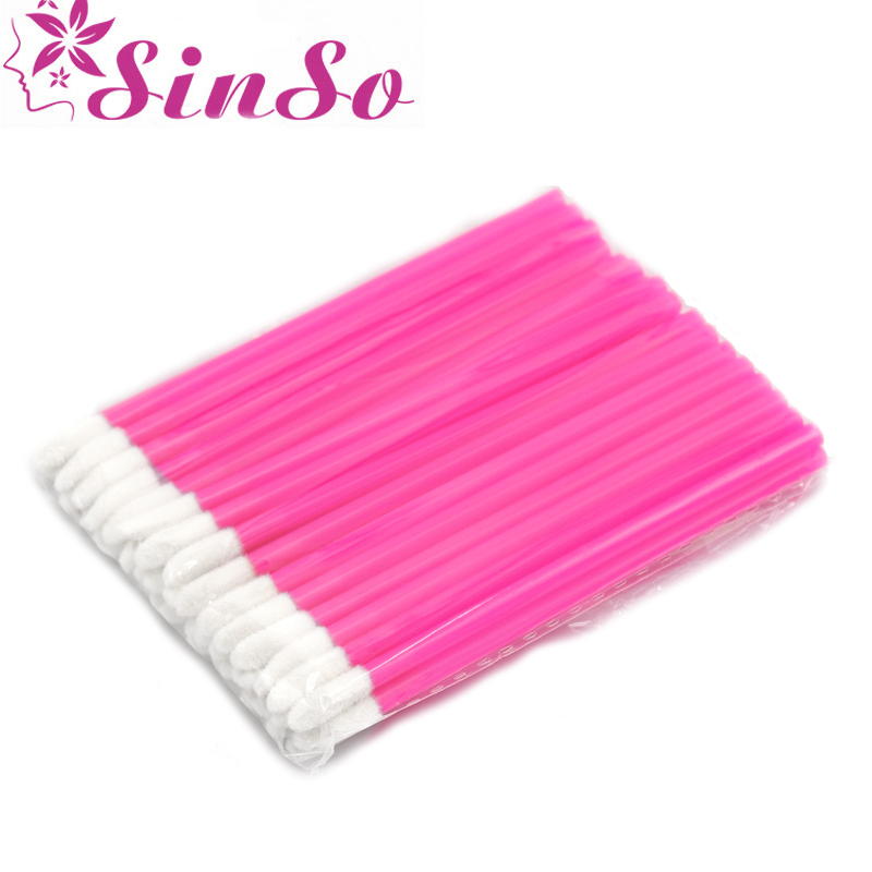 Sinso Disposable Lip Brush Make Up Brushes Set Tool For Makeup Mascara Wands Brush Cleaner Cleaning Eyelash Makeup Brush 50pcs in Eye Shadow Applicator from Beauty Health