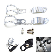 Two Styles  Fork Clamp Type Motorcycle Turn Signal Lamp Holder Light Mount Bracket For 30-45mm Front