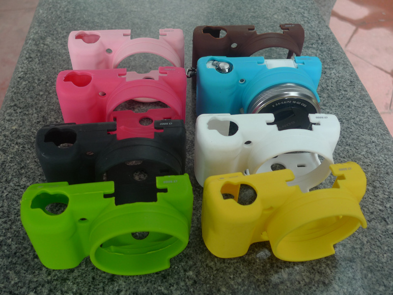Soft Silicone Rubber <font><b>Camera</b></font> Protective Body Cover <font><b>Case</b></font> Bag Skin for <font><b>Sony</b></font> <font><b>Alpha</b></font> A5100 <font><b>A5000</b></font> 16-50mm in 8 Colors image