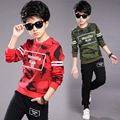 Conjuntos de roupas meninos crianças camuflagem casacos calças 2 pcs crianças roupas meninos primavera roupas adolescente meninos terno esporte crianças agasalho