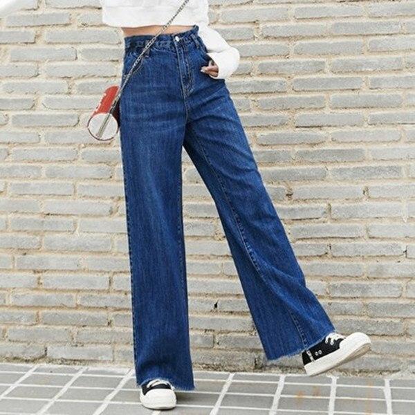 2017 Burr Retro Jean Women Flare Pant Womens Jeans Denim Casual Wide Leg Pants Women Loose  Jeans haroute women jeans skinny pencil pants jean taille haute long pants women trousers jeans mujer burr embroidery retro jeans