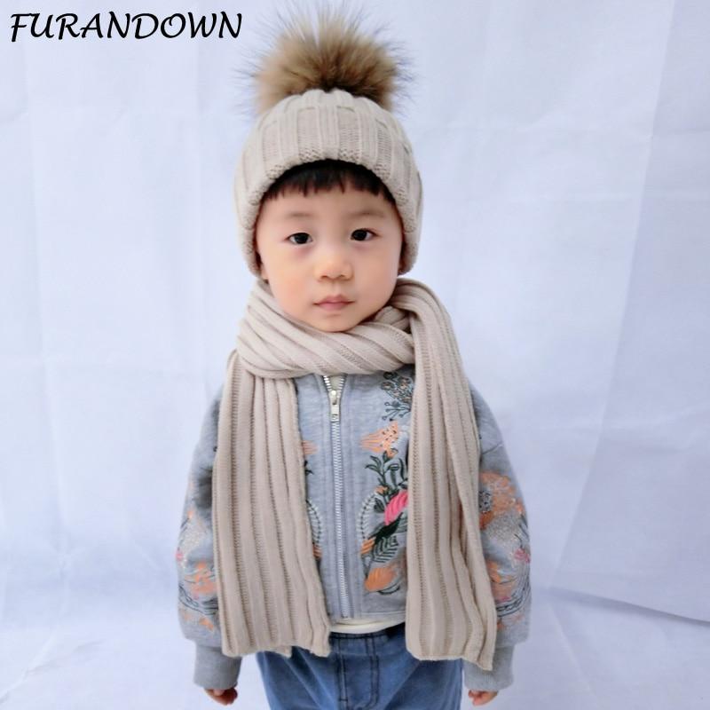 FURANDOWN Knitted Scarf Kids Winter Warm Shawls and ...