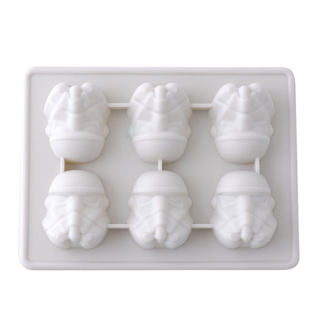New Durable Silicone Star Wars Storm Trooper Ice Tray Cookies Chocolate Suger Soap Mould Kitchen Tool