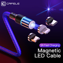 Cafele 마그네틱 케이블 마이크로 USB 타입 C 자석 충전기 3A 화웨이 아이폰에 대한 빠른 충전 Xiaomi 휴대 전화 케이블 데이터 와이어