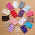 30pcs/lot 3 Row 2 Hooks Bra Extender Bra Extended Buckle 15 Colors Underwear Back Buckle Women's Intimates Accessory 12201