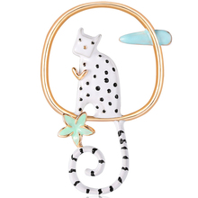 European And American Fashion Creative Jewelry Wild Personality Handmade Drip Cat Brooch