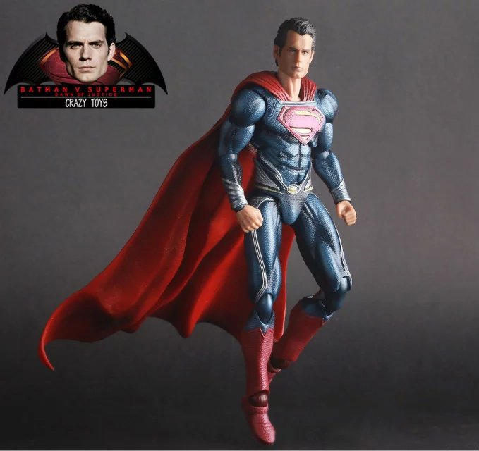 цены на NEW hot 16cm Justice leagueBatman v Superman Dawn of Justice movable collectors action figure toys Christmas gift doll with box в интернет-магазинах