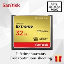 سانديسك بطاقة CF المتطرفة بطاقة الذاكرة 16GB 32GB 64GB 128GB بطاقة فلاش مدمج Class10 120 متر/الثانية بطاقة CF ل 4K و كامل HD الفيديو جاء