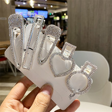 2019 New Fashion Flash Luxury Temperament Full Crystal Elegant Women Barrettes Hair Clip Hairpin Accessories