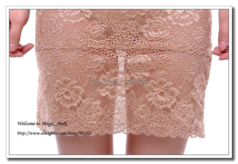 Sexy Lace Skirt For Women Ladies Above Knee Floral Skirts Dress With Panty Dobby A-Line Above Knee Hollow Out Black Beige (1).jpg