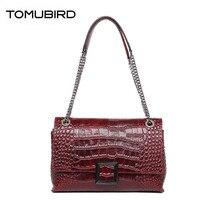 TOMUBIRD 2018 new Cowhide women genuine leather bag designer chains handbags Crocodile pattern fashion luxury leather bag