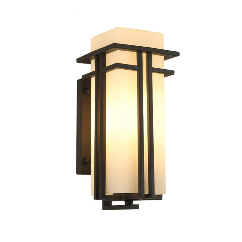 LED Outdoor Wall Lamp Modern Creative IP65 Waterproof Courtyard Wall Lamp Balcony Aisle Villa Door Column Lamp - 3