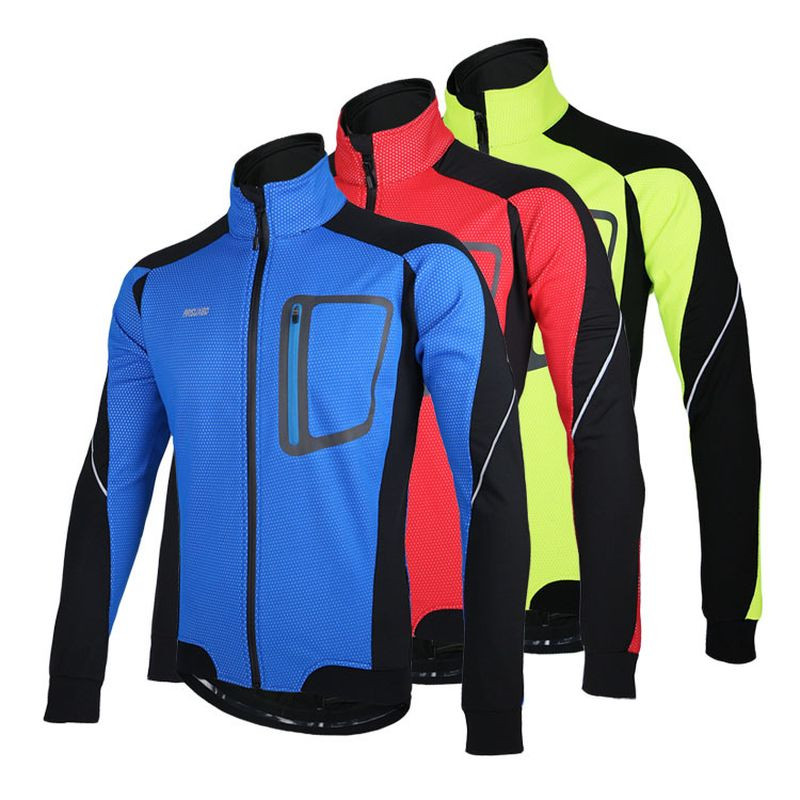 Waterproof Bicycle Jackets Windproof Autumn Winter Fleece Thermal Warm Bike Cycling Coat Outwear Bike Equipment veobike winter windproof thermal fleece reflective bike bicycle jersey warm cycling wind coat jackets pants set for men women