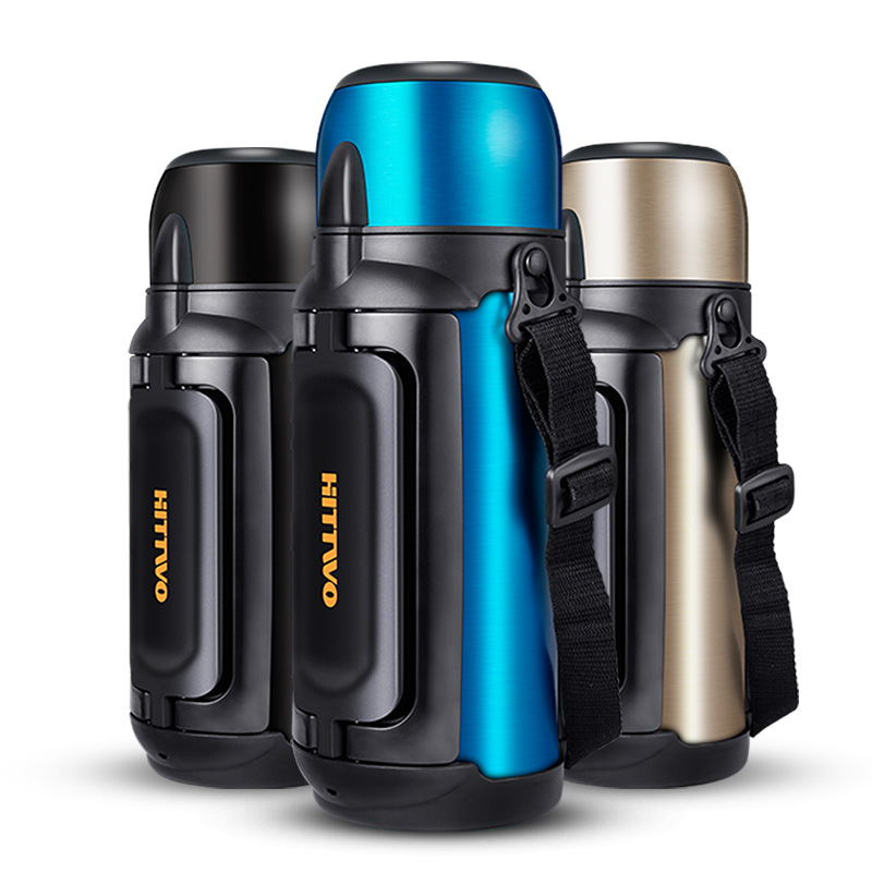 1500 1800ml Large Capacity Hot Water Thermos Stainless Steel Outdoor Insulation Kettle Male Outdoor Travel Camping