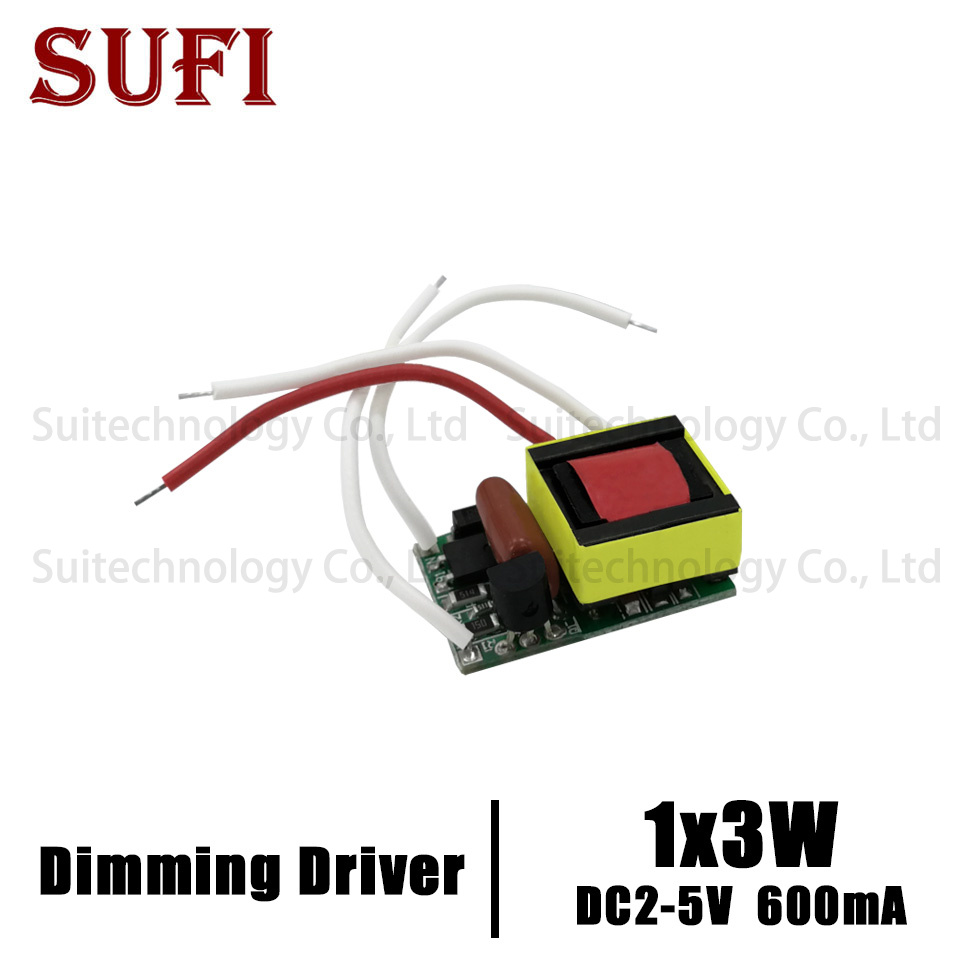1x3w Dimmable Led Driver 600ma Dc2-5v Input 220v 110v Portable Lighting Transformers 3w Power Supply For Diy 3w Led Emitter Lamp