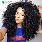 Kinky Curly Wig For Black Women Lace Front Human Hair Wigs Pre Plucked With Baby Hair Malaysian Wig 180% Density Remy Hair