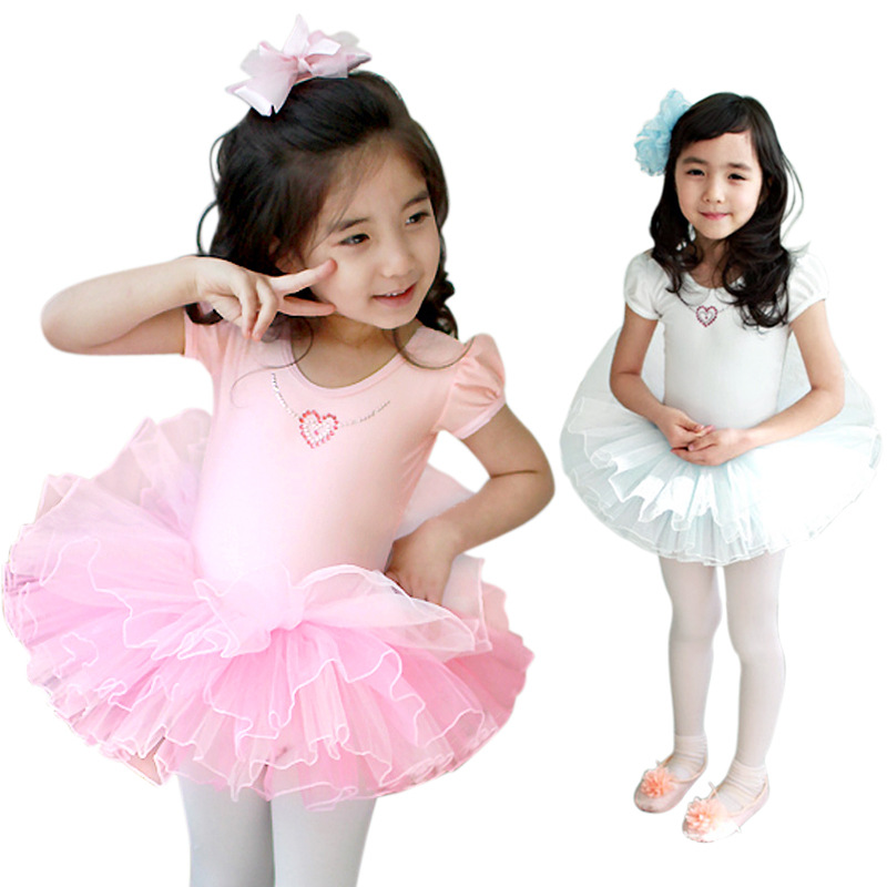 Discount 5/6/7Y Children Ballet Dress Pink Ballet Costume For Girls Cotton Ballet Dance Clothing Kids Ballet Dancewear For Sale