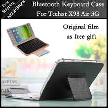 For Teclast X98 Air 3g /X98 air 3G dual boot Tablet PC Bluetooth Keyboard Case +screen protector as gift