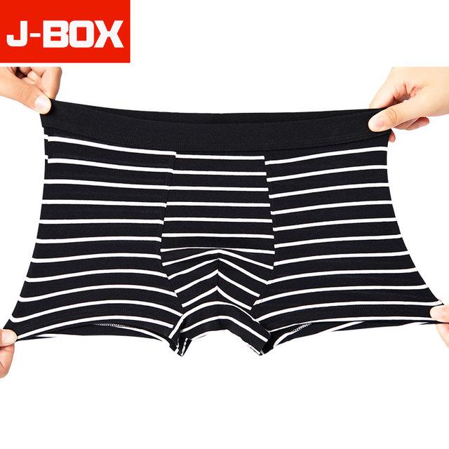 4Pcs/lot Soft Panties Mens Underwear Boxers Cotton Boxer Men Solid Print