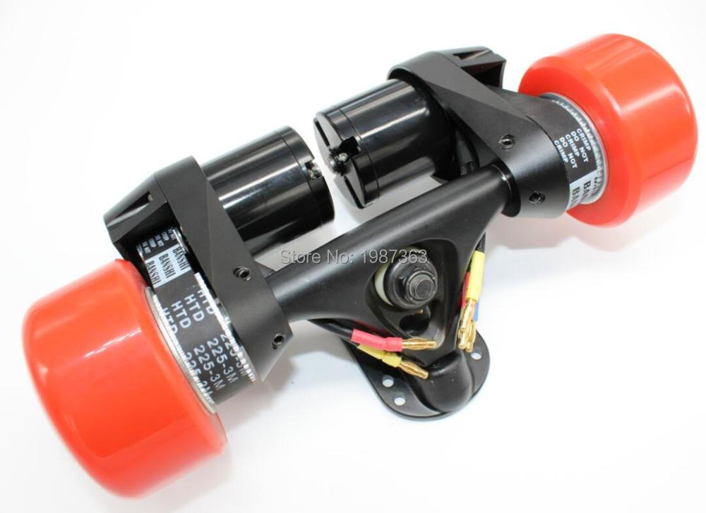 Electric Longboard Skateboard Conversion Kit Rear Truck With Two Motor - Belt Drive Dual Motor Drive