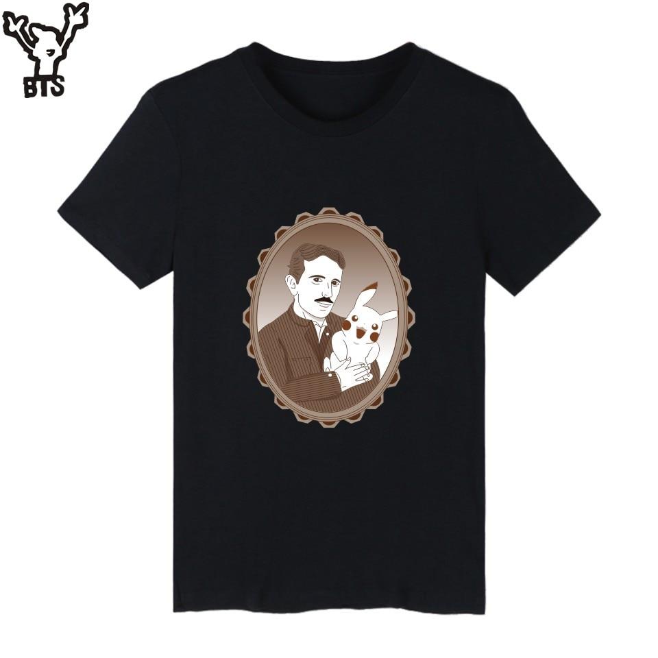 Bts tesla motors mens tshirts summer funny short sleeve t for Short t shirt men