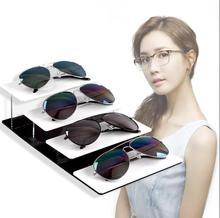 цена на Acrylic Sunglasses Display Rack Shelf Eyeglasses Showing Stand Jewelry Desktop Bracelet Holder Necklace Showcase free shipping