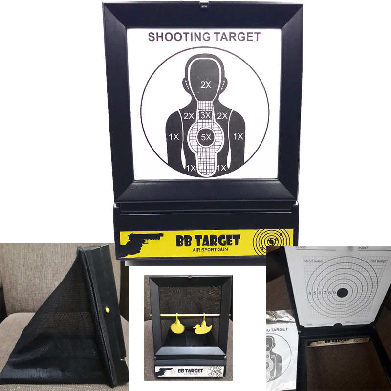 Pellet Trap And Airgun BB Gun Airsoft Shooting Target Steel With 10 PCS Papers For  Paintball  / BB Gun / Plastic Bullet /  BBs.
