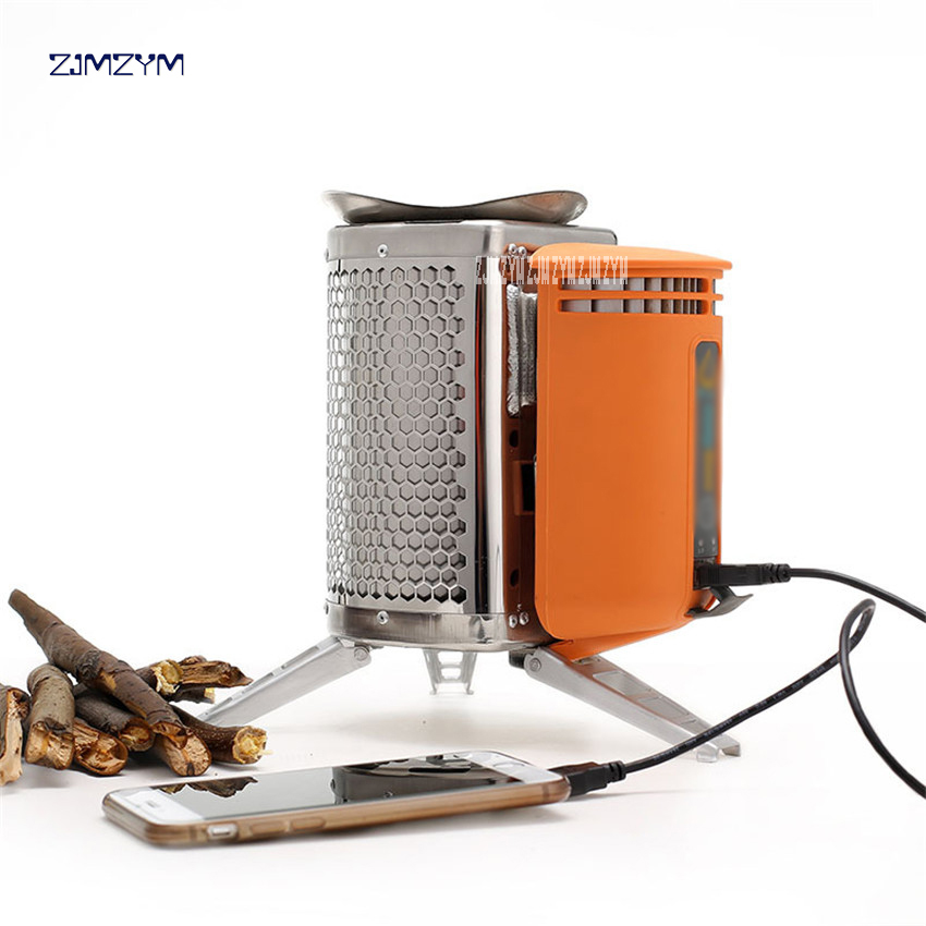 где купить 3-5 Persons Ultralight Stainless Steel Stove With USB-Chargeable Device For Backpacking Outdoor Cooking Picnic BBQ Burning Wood по лучшей цене