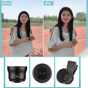 Image 4 - Sirui 60mm Telephoto Portrait Phone Lens 18MM Wide Angle HD 4K Mobile Lens for iPhone XS X 7 plus Huawei P20 Samsung S9 S8