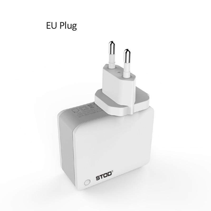 STOD Multi Port Travel Charger 4 USB 22W 4.4A Pengisian Cepat Untuk - Aksesori dan suku cadang ponsel - Foto 2